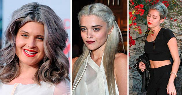 silver gray hair color tips - Color Tips Of Hair