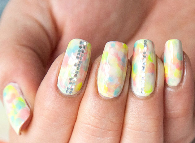 Tie-Dye Nail Art Tutorial from Chelsea King