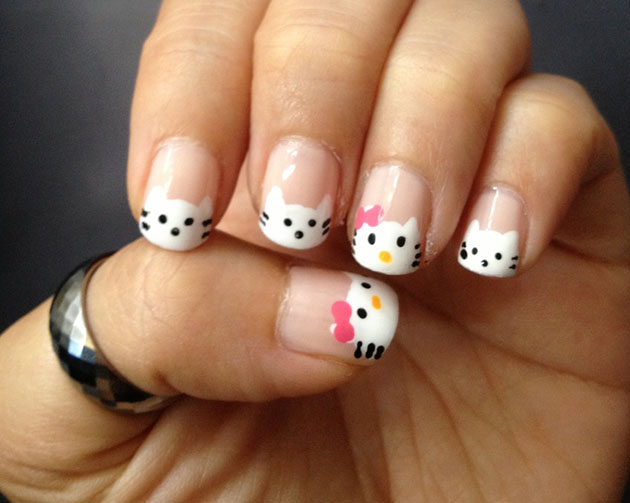Show your creativity and create gorgeous hello kitty nail art designs