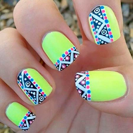 extraordinary bright neon colors orange became inspiration article - 27 Marvellous Nail Designs Neon Colors – Slybury.com