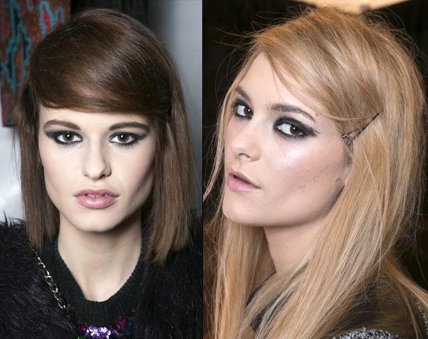 Side-Swept Faux Fringes for Fall 2013