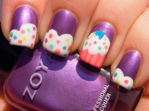 dessert nail art designs - Hot Designs Nail Art Ideas