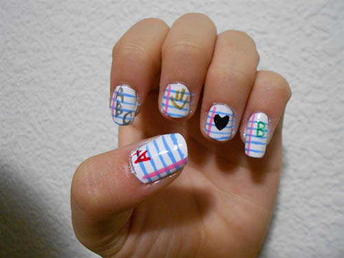 Back to School Nail Art Designs