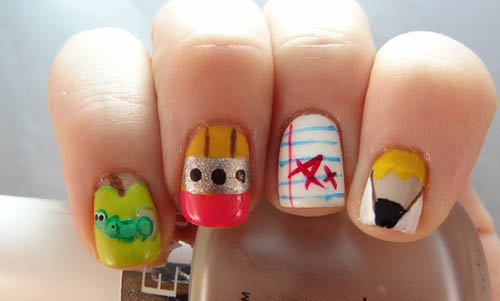 Get Inspired From These Back To School Nail Art Designs And Welcome - Back To School Nail Designs Cute Back To School Nail Designs. Back