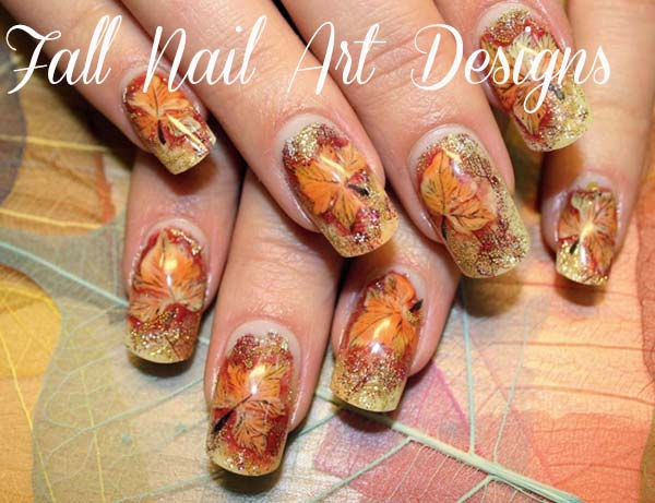 Fall Nail Tip Designs Fall Nail Art Designs