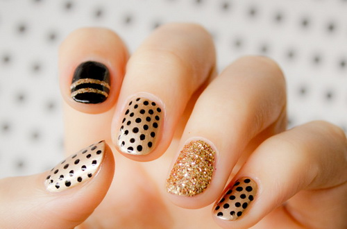 Polka Dotted Nail Art Designs