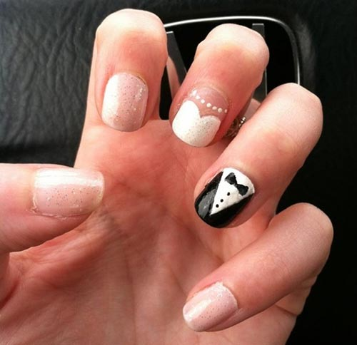 Gel nails to go with black dress