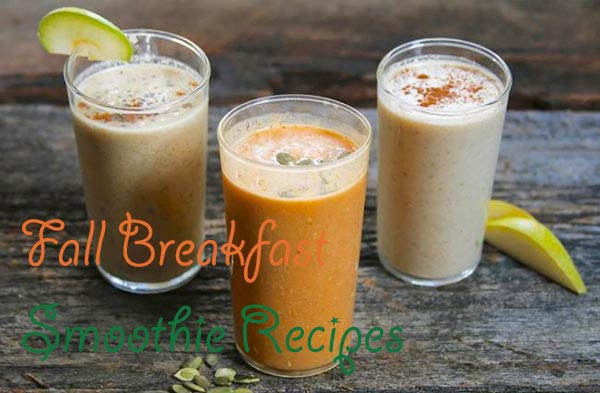 Fall Breakfast Smoothie Recipes