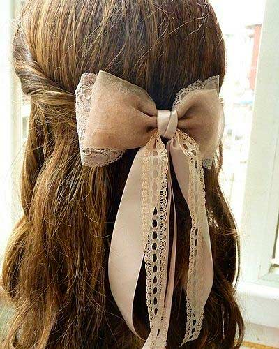 Swell Top 50 Cute Girly Hairstyles With Bows Beauty Tips Hair Care Short Hairstyles For Black Women Fulllsitofus