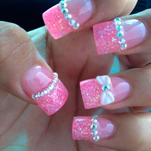 Cute bow nail designs nail designs hair styles tattoos and top 70 cute bow nail art designs prinsesfo Images