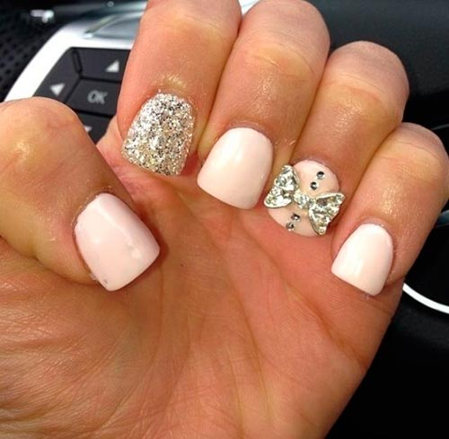 Top 70 Cute Bow Nail Art Designs  Nail Art, Hairstyles amp; Beauty Tips