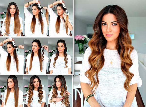 Easy Curly-Wavy Hairstyle Tutorials