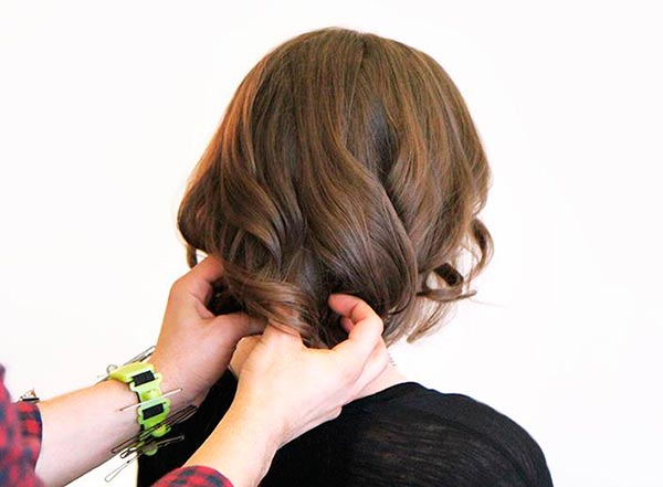 Faux Bob Updo Tutorial