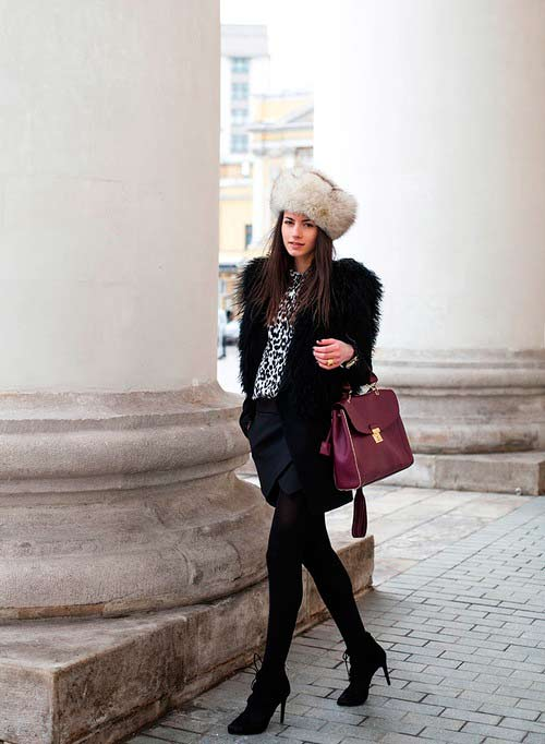 Cozy and Cool Ideas for Wearing Fur Hats