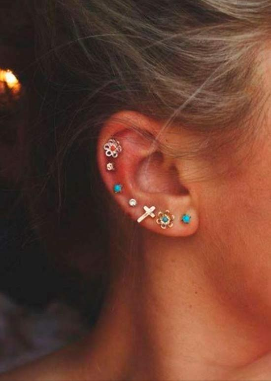 Piercing Types and 80 Ideas On How to Wear Ear Piercings ... Ear Piercings