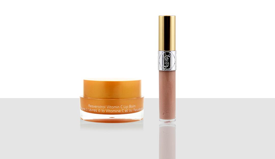 Vine Vera Resveratrol Vitamin C Lip Balm, YSL Gloss Volupte (#20)