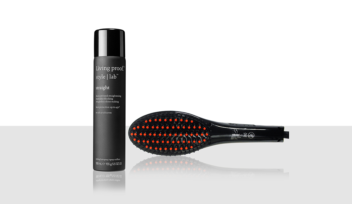 Living Proof Straight Spray, Straight Brush Pro