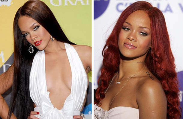 Rihanna with long hairstyle