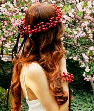 Bridal Floral Crown Hairstyles