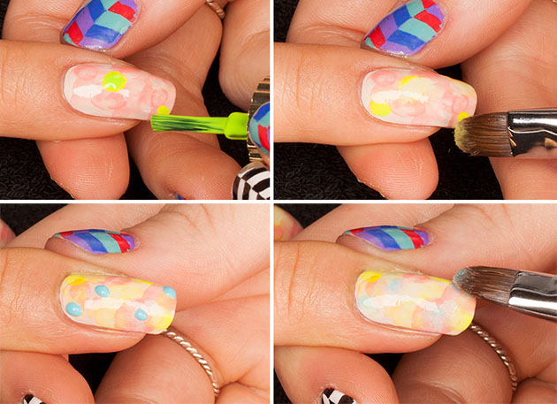 Tie Dye Nail Art Tutorial From Chelsea King Beautyfrizz