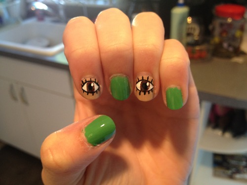 Eyes Nail Art Designs
