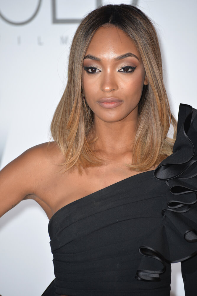 ANTIBES, FRANCE - MAY 19, 2016: Model Jourdan Dunn at the amfAR Cinema Against AIDS Gala 2016 at the Hotel du Cap d'Antibes.