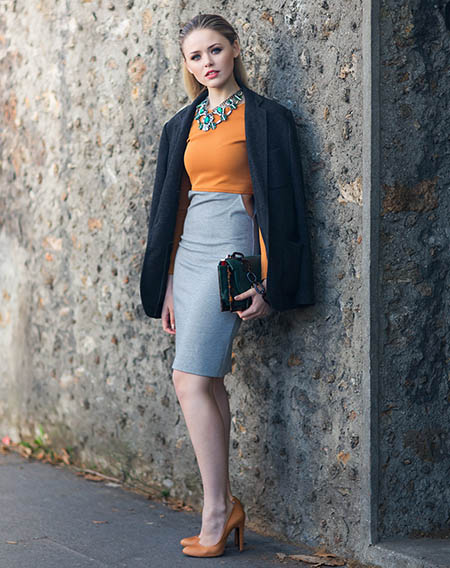How to Wear Pencil Skirts