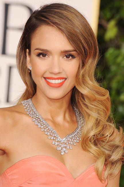 Jessica Alba with wavy long hair
