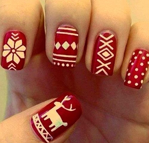 101 Cute Christmas Nail Designs For The Festive Season Beautyfrizz