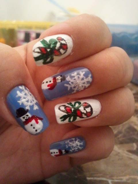 101 cute christmas nail designs for the festive season beautyfrizz 101 cute christmas nail designs for the