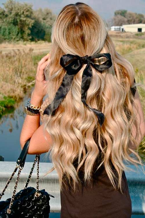 Top 50 Cute Girly Hairstyles with Bows – BeautyFrizz