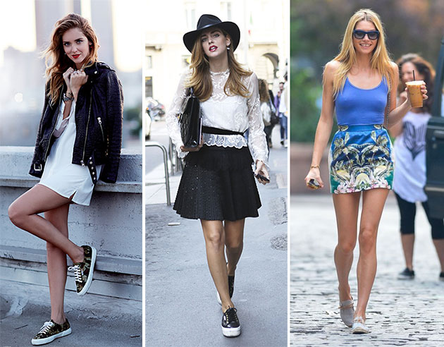 Wearing Sneakers with Dresses