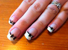 Top 70 Cute Bow Nail Art Designs