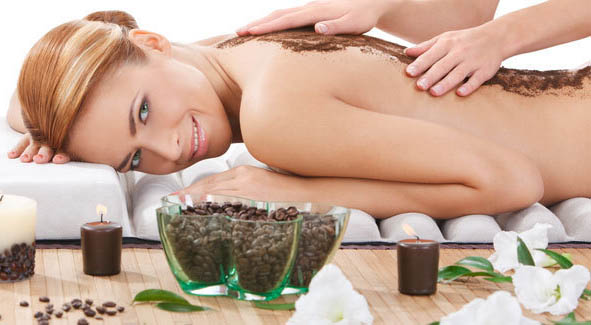 Woman enjoying spa treatment
