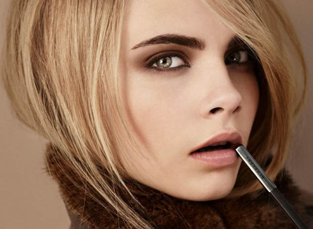 Cara Delevingne with pencil