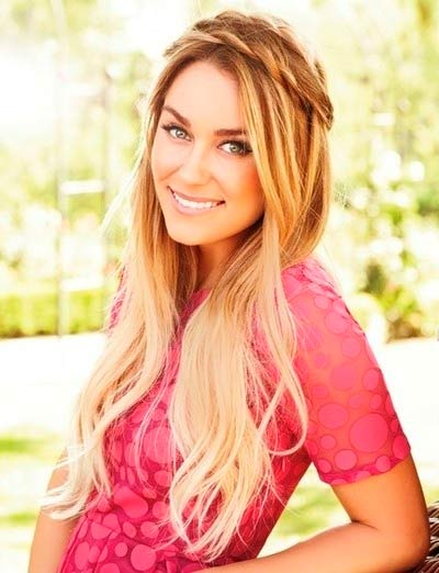 Lauren Conrad with braided hair