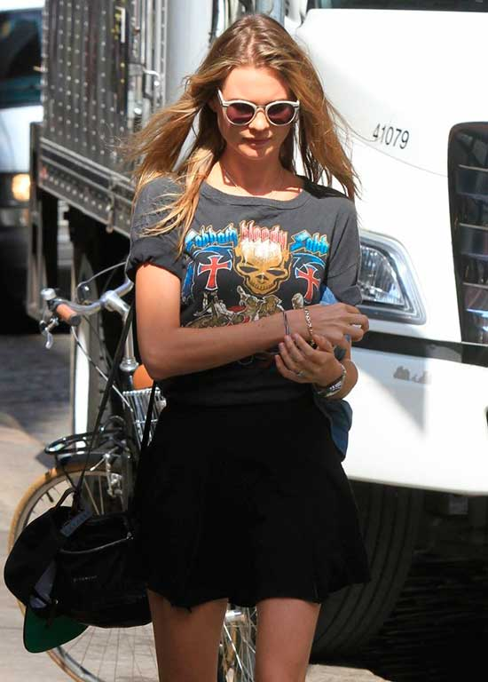 Behati Prinsloo in street style and sunglasses