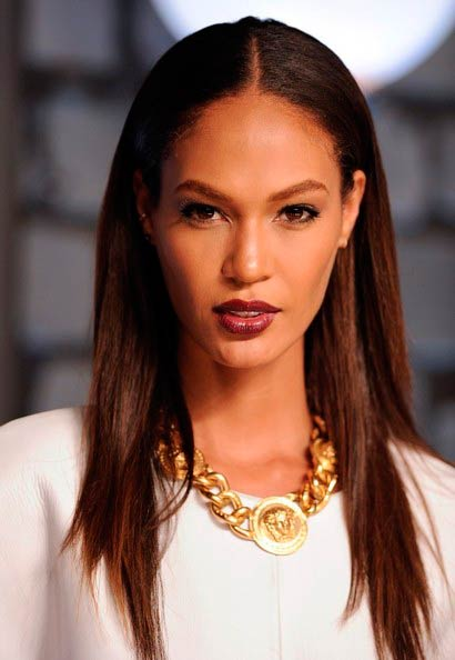 Joan Smalls with straight hair