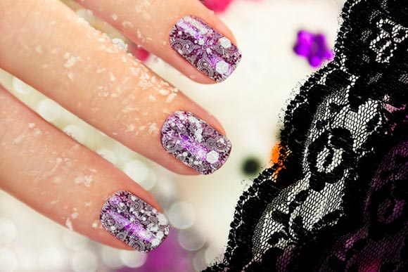 Diy Lace Nail Art Designs Beautyfrizz