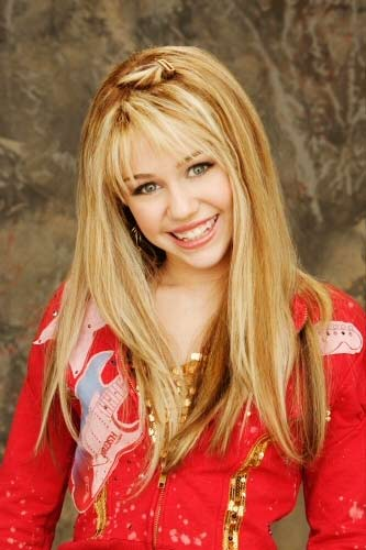 Miley Cyrus with long blonde hair