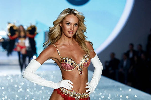 Victoria's Secret Angel model on runway