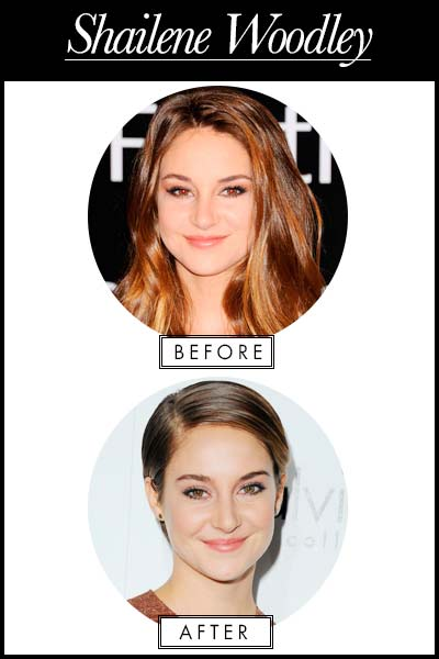 Shailene Woodley hairstyle change