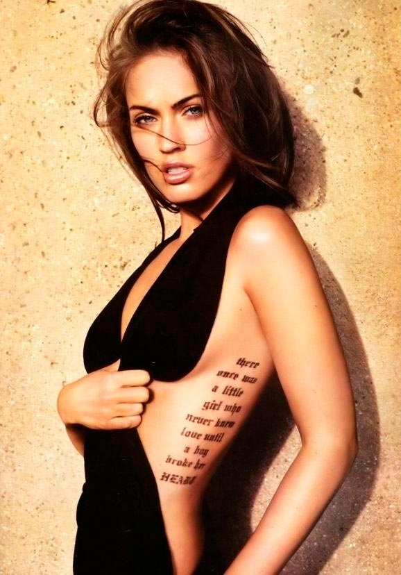 Megan Fox with body tattoo