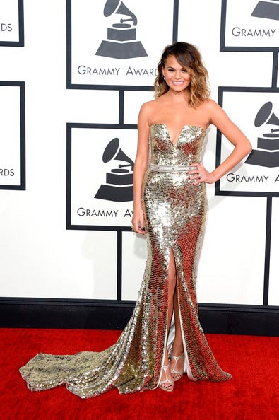 Chrissy Teigen at the Grammy Awards 2014