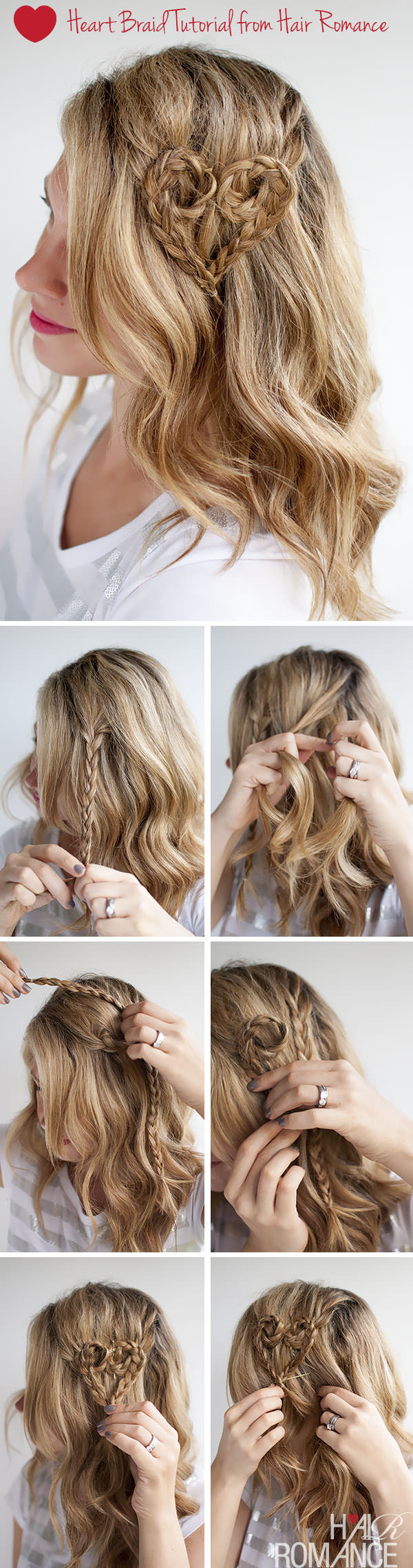 Valentine's Day Hairstyle Tutorials