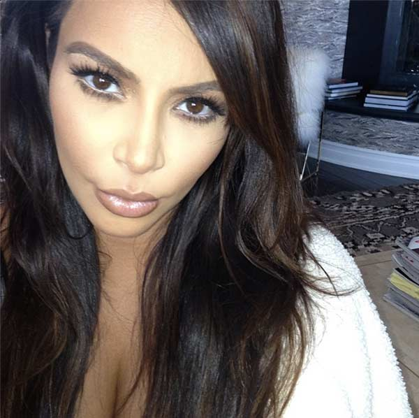 Kim Kardashian taking a selfie