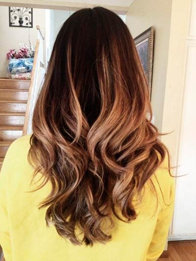 Woman's head with ombre highlights