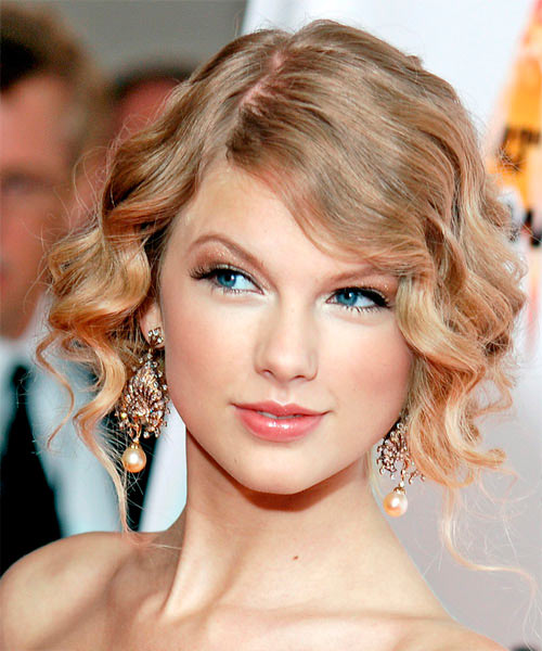 Taylor Swift with faux bob hairstyle