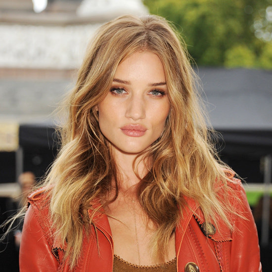 Rose Huntington-Whiteley with wavy blonde hair