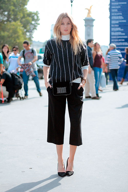 Models with mid-cropped culottes